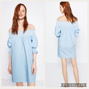 Zara Woman off the shoulder tunic/dress, medium